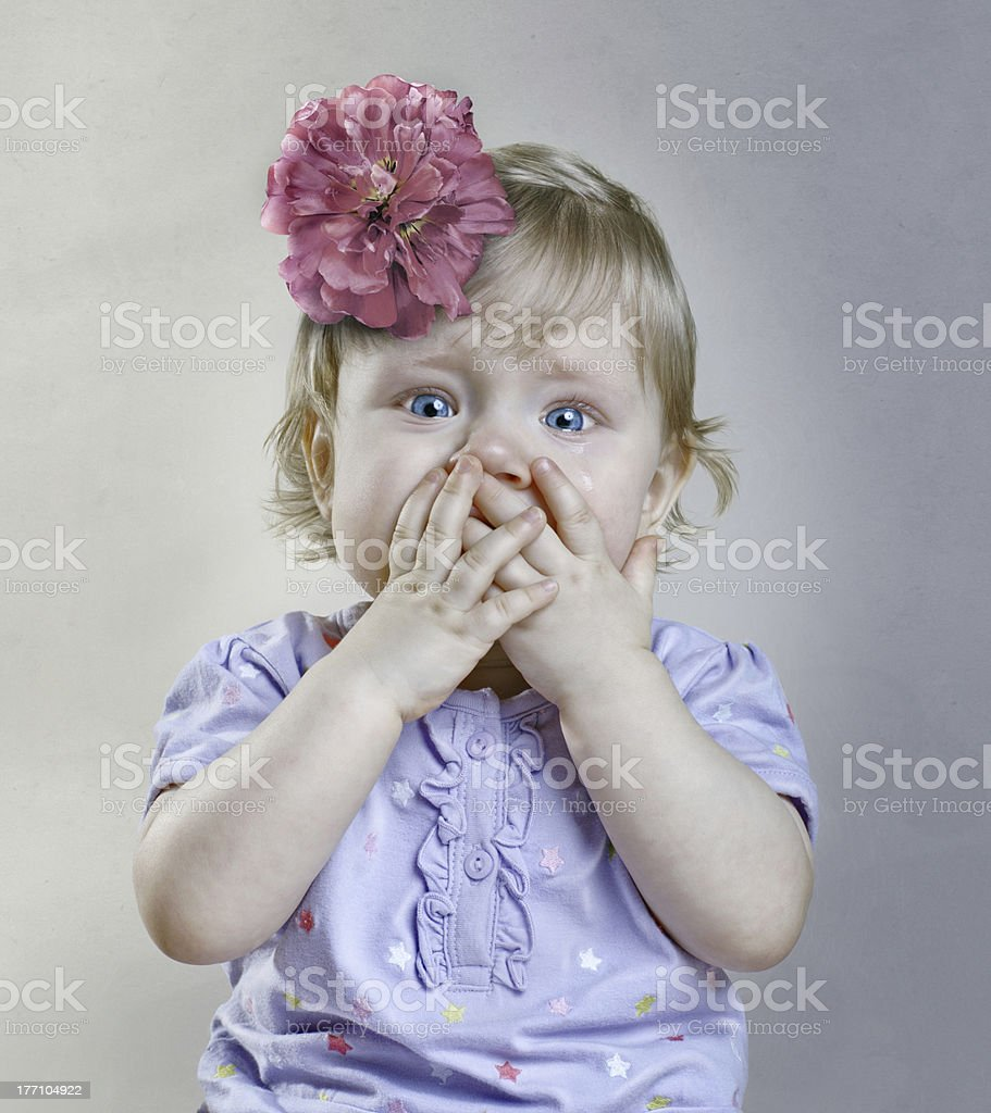 Crying child royalty-free stock photo