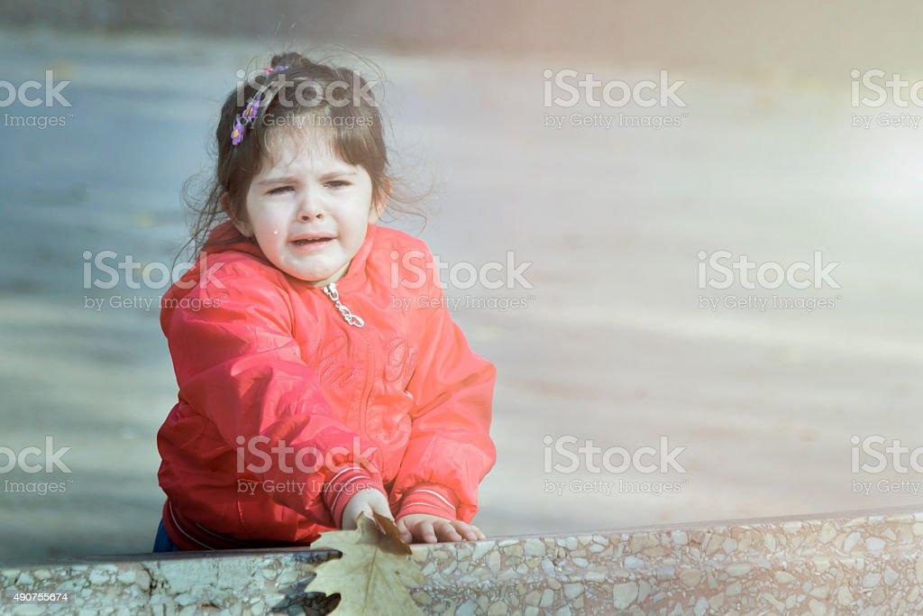 Crying Child stock photo