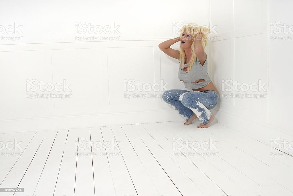 Crying for help royalty-free stock photo