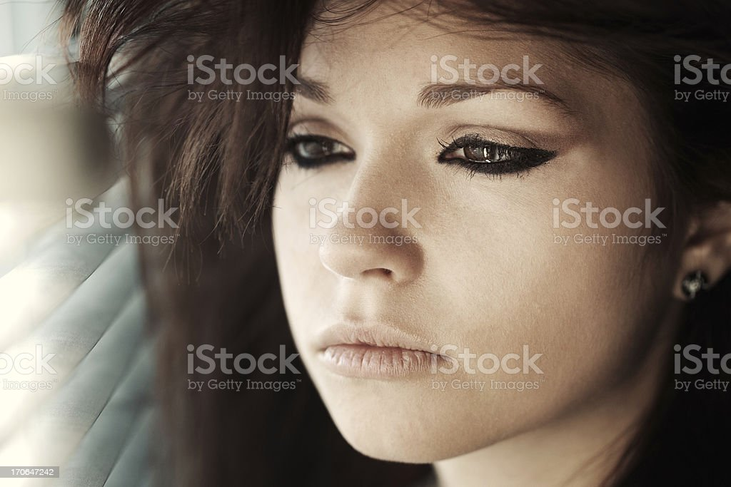 crying girl royalty-free stock photo