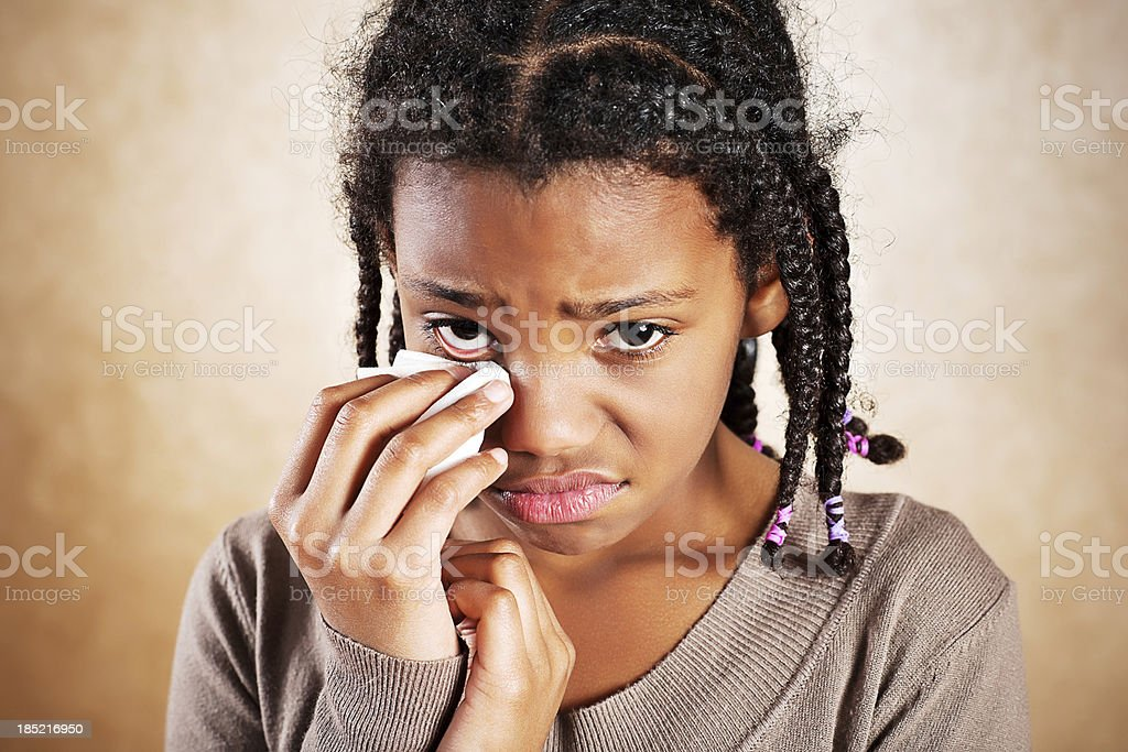 Crying girl. royalty-free stock photo