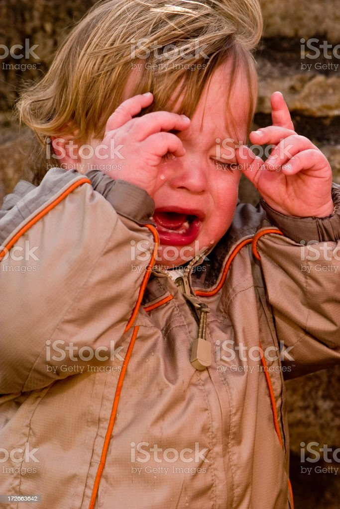 crying his eyes out royalty-free stock photo