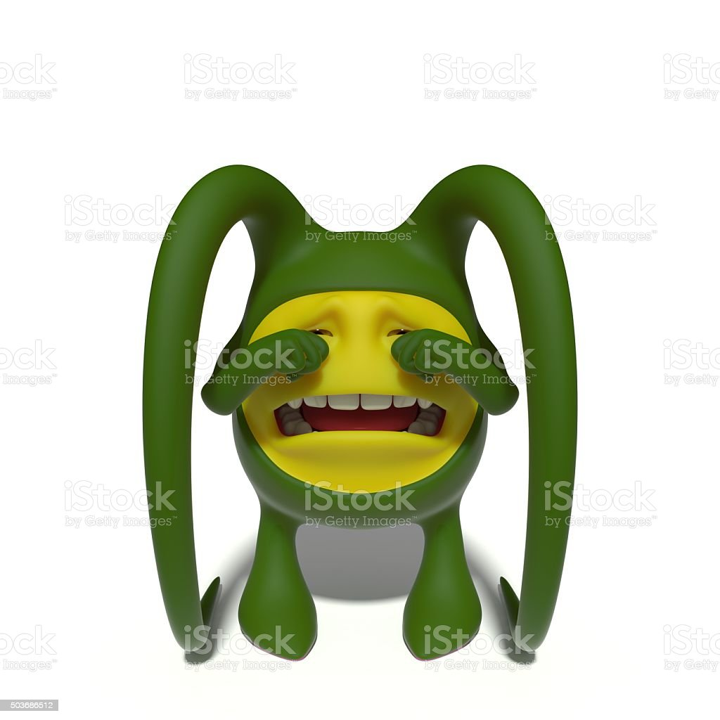 Crying monster stock photo
