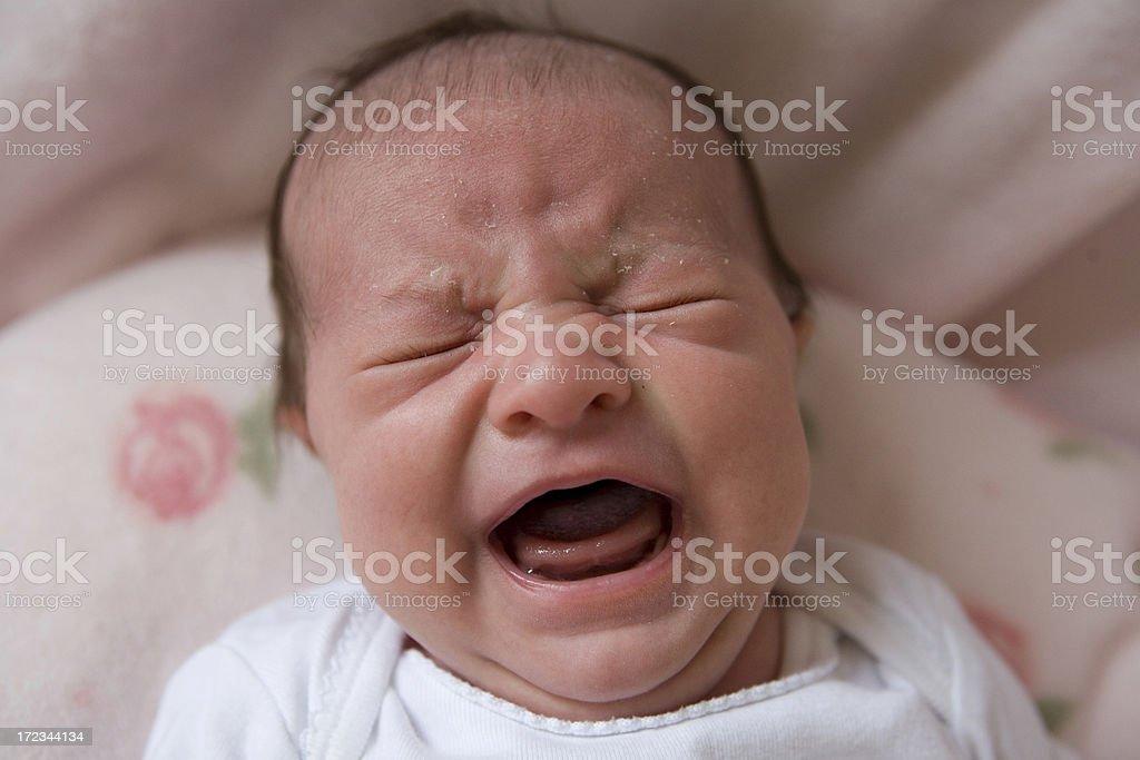 Crying Newborn stock photo