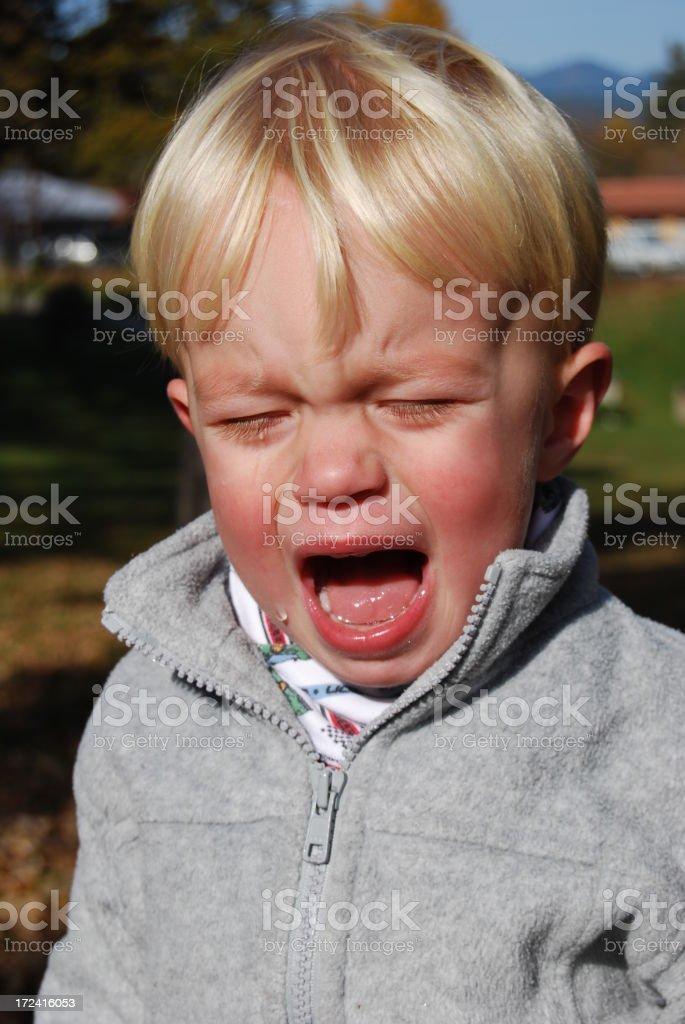 Crying royalty-free stock photo