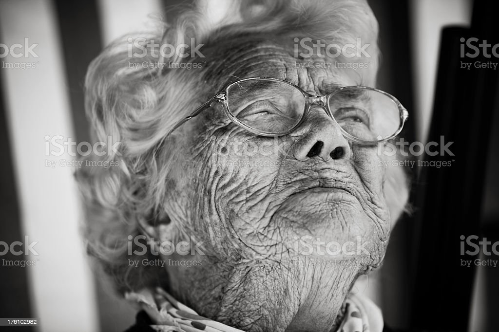 Crying Senior Lady royalty-free stock photo