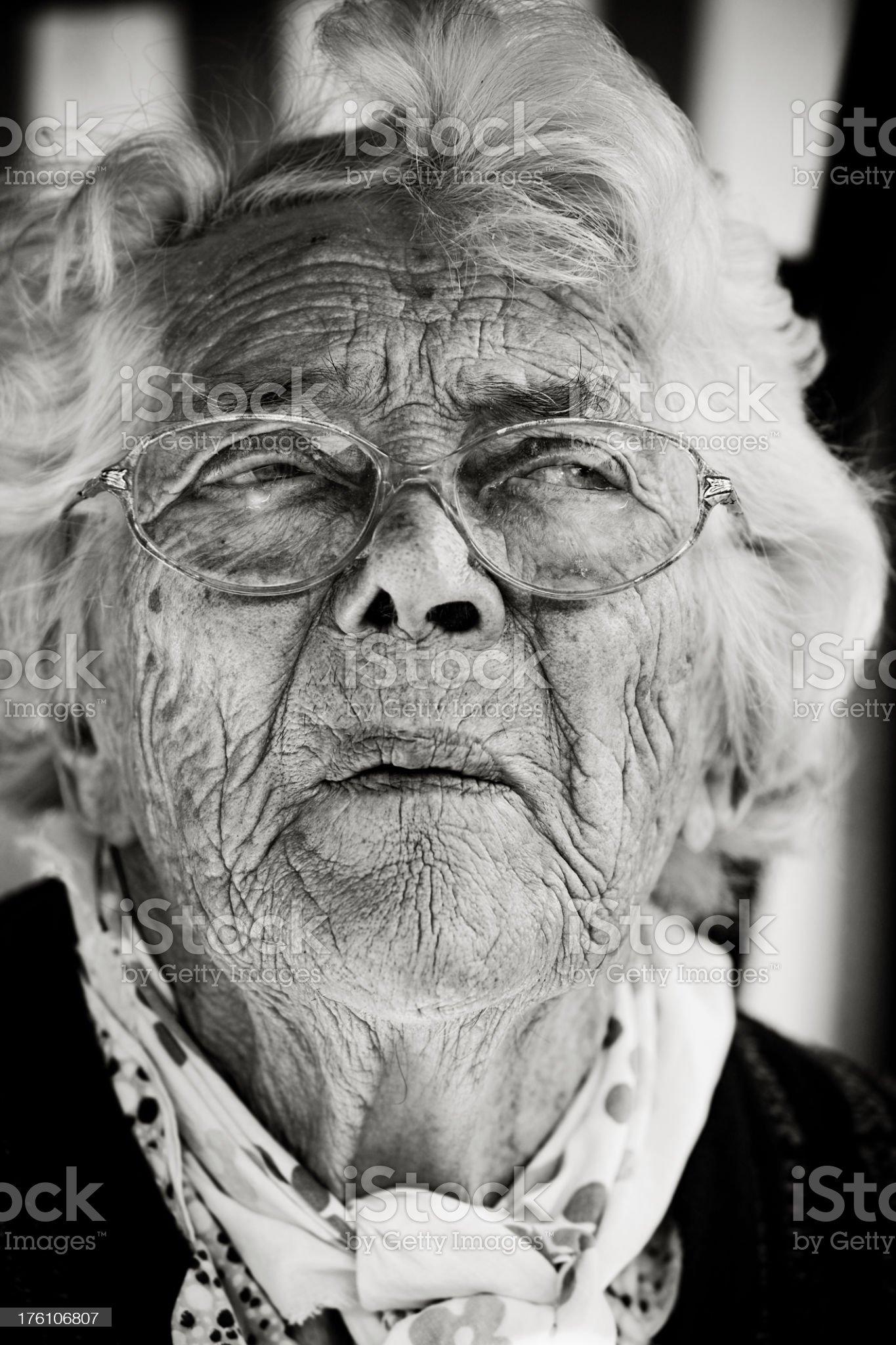 Crying Senior Lady royalty-free stock photo