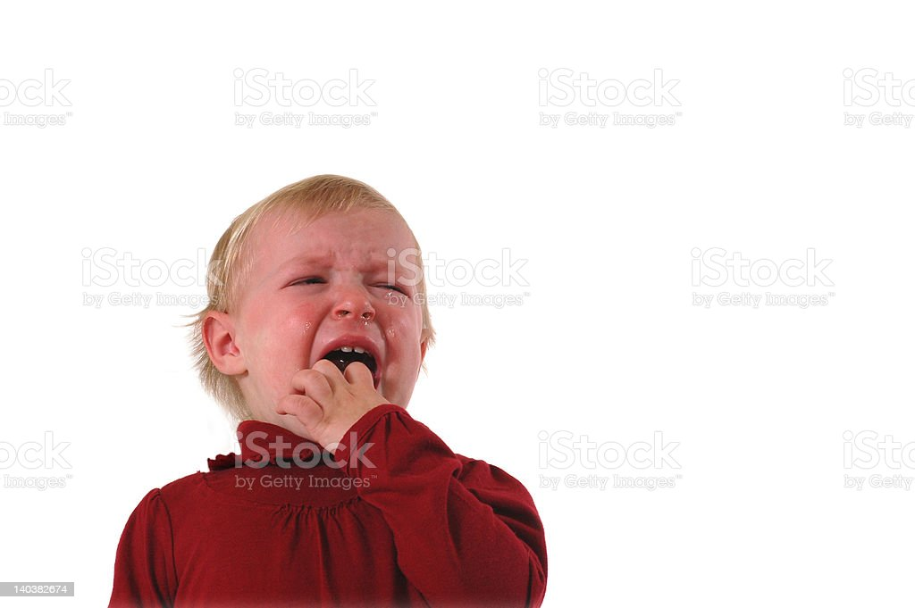 Crying Toddler royalty-free stock photo