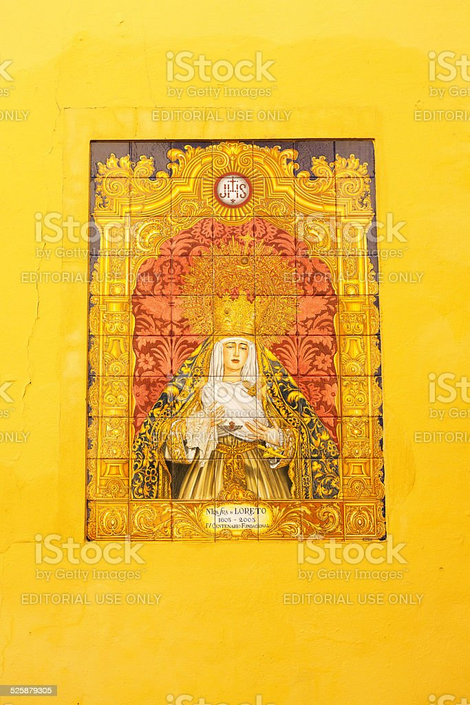 Crying virgin de Loreto stock photo