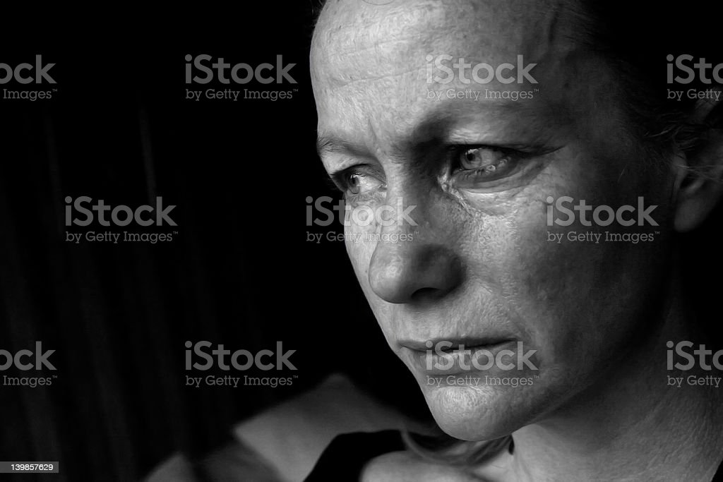 Crying Woman - depression stock photo
