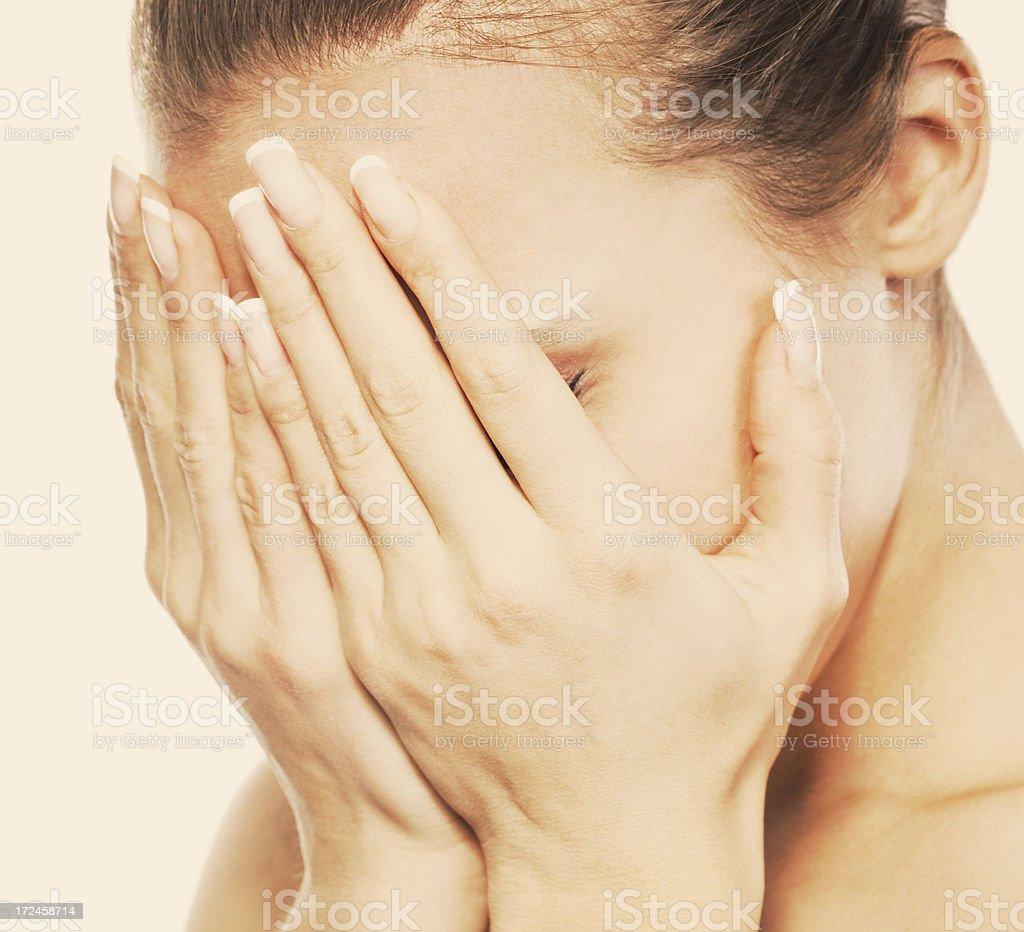 crying women stock photo