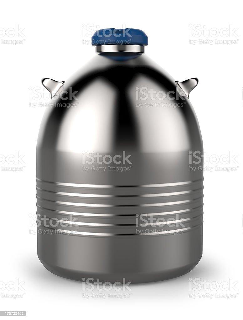 Cryogenic Dewar flask stock photo