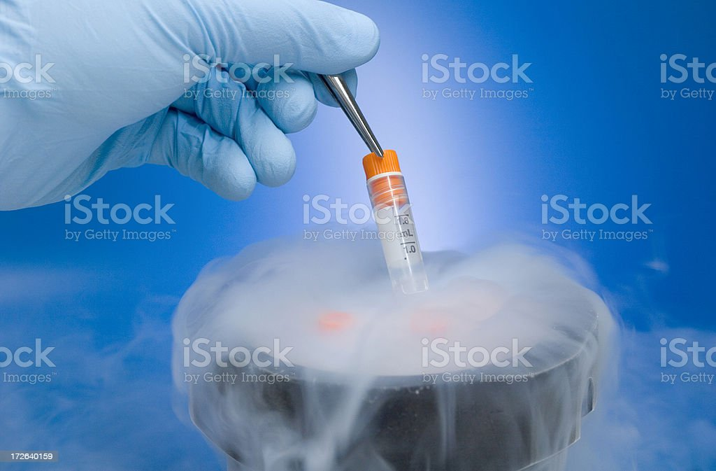 Cryopreservation stock photo