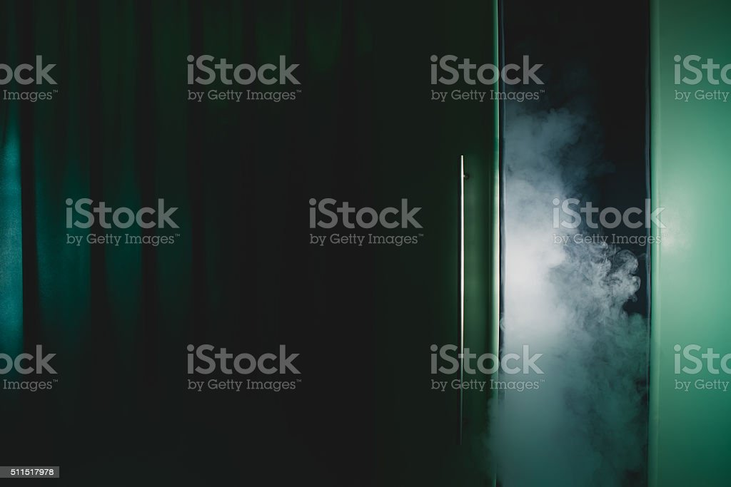 cryotherapy capsule in cosmetological clinic stock photo