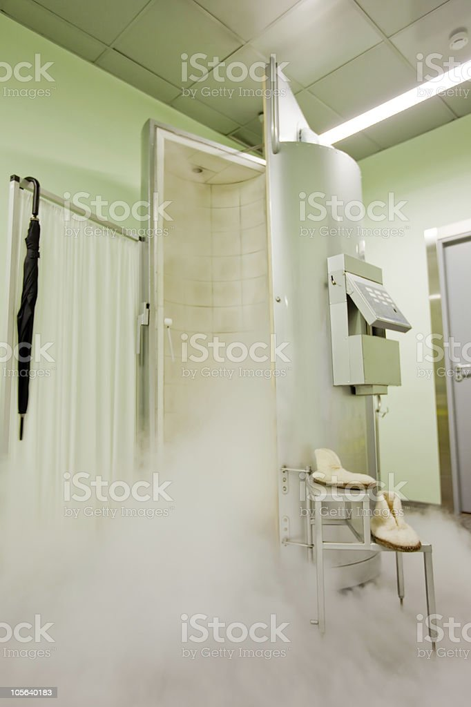cryotherapy capsule stock photo