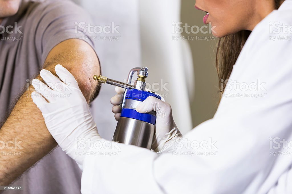 Cryotherapy stock photo