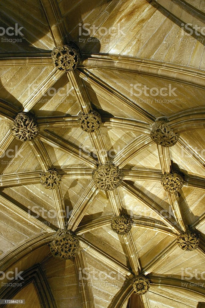Crypt Ceiling royalty-free stock photo