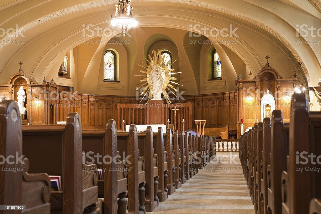 Crypt Church Saint Joseph's Oratory Montreal royalty-free stock photo