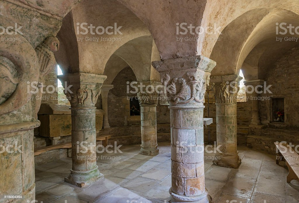 Crypt of Church stock photo