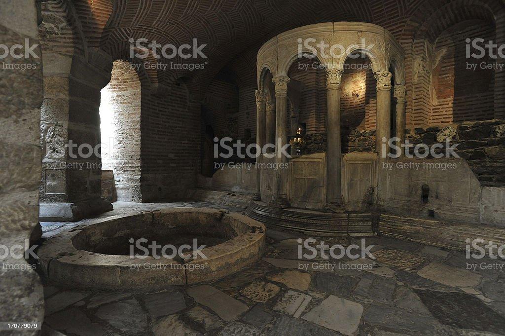 Crypt of Saint Demetrius, Thessaloniki, Greece royalty-free stock photo