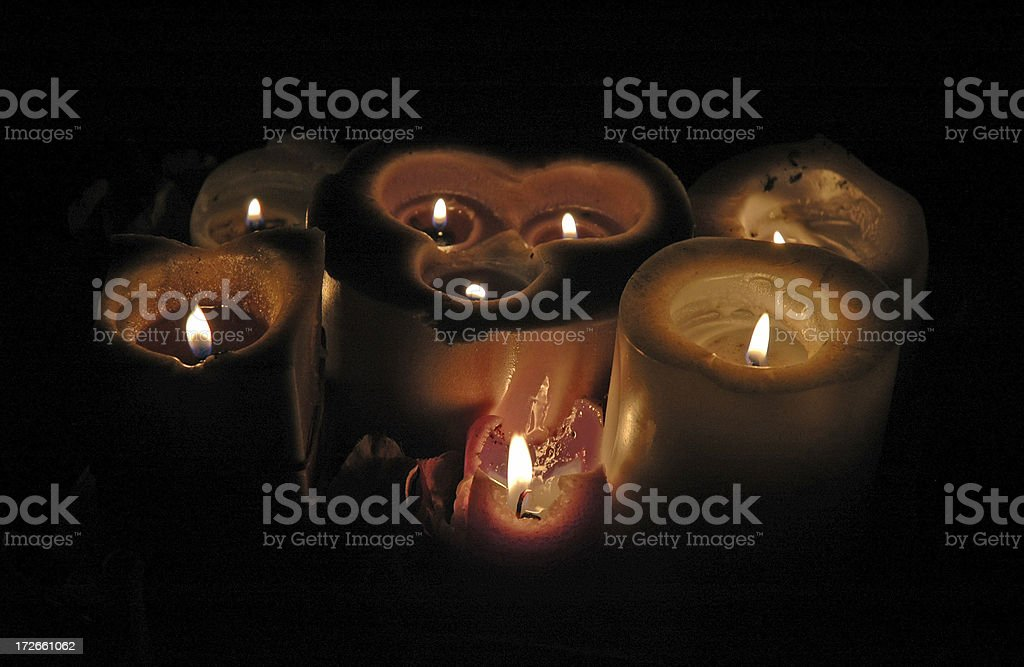 Cryptic Candles stock photo