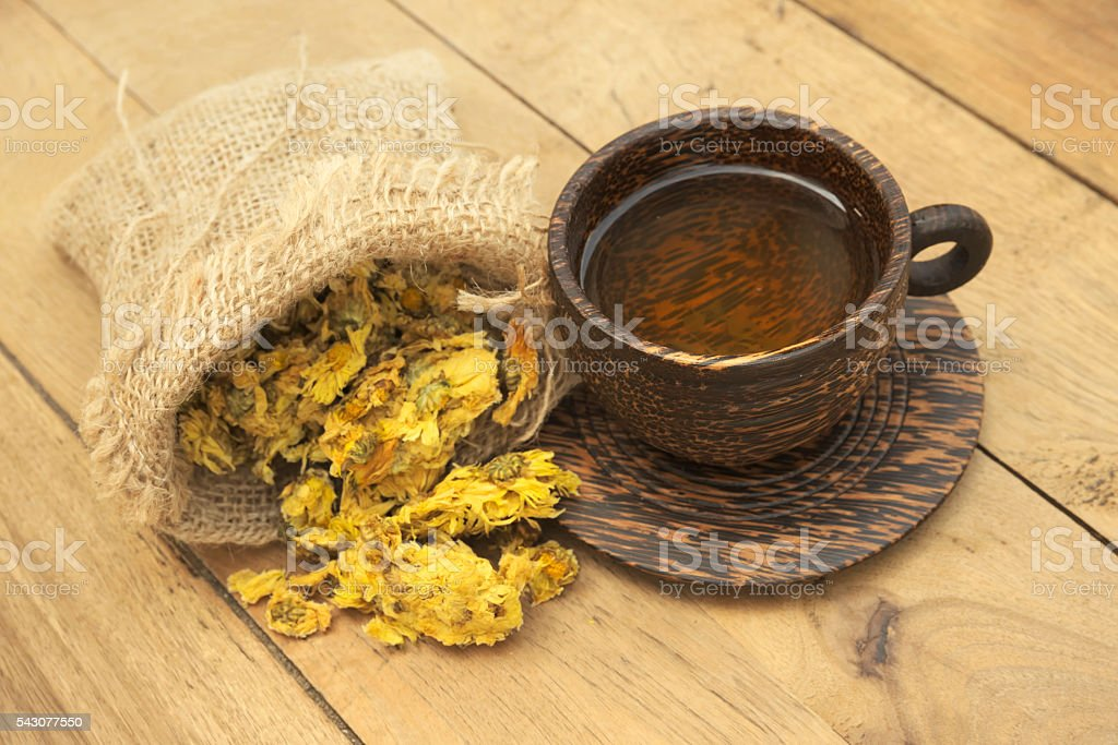 Crysanthemum tea stock photo
