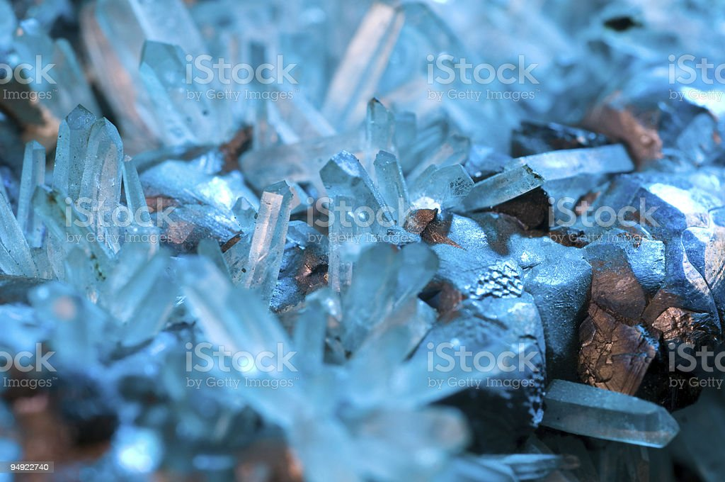 Crystal and metal stock photo