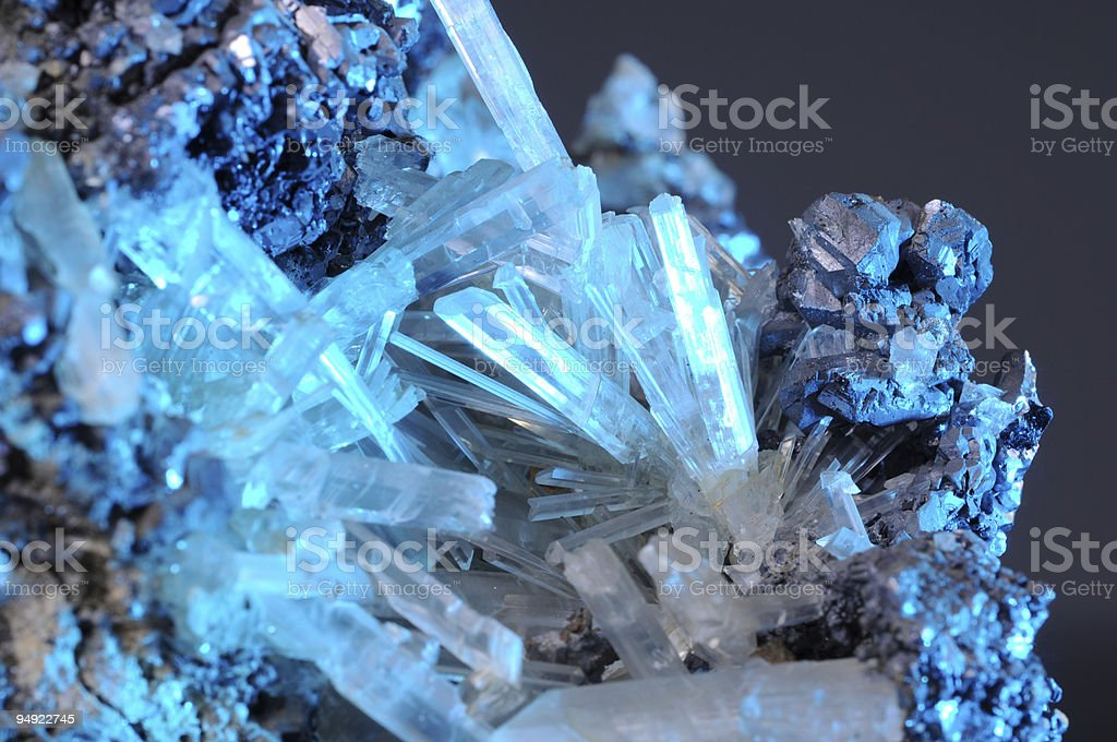 Crystal and metal royalty-free stock photo