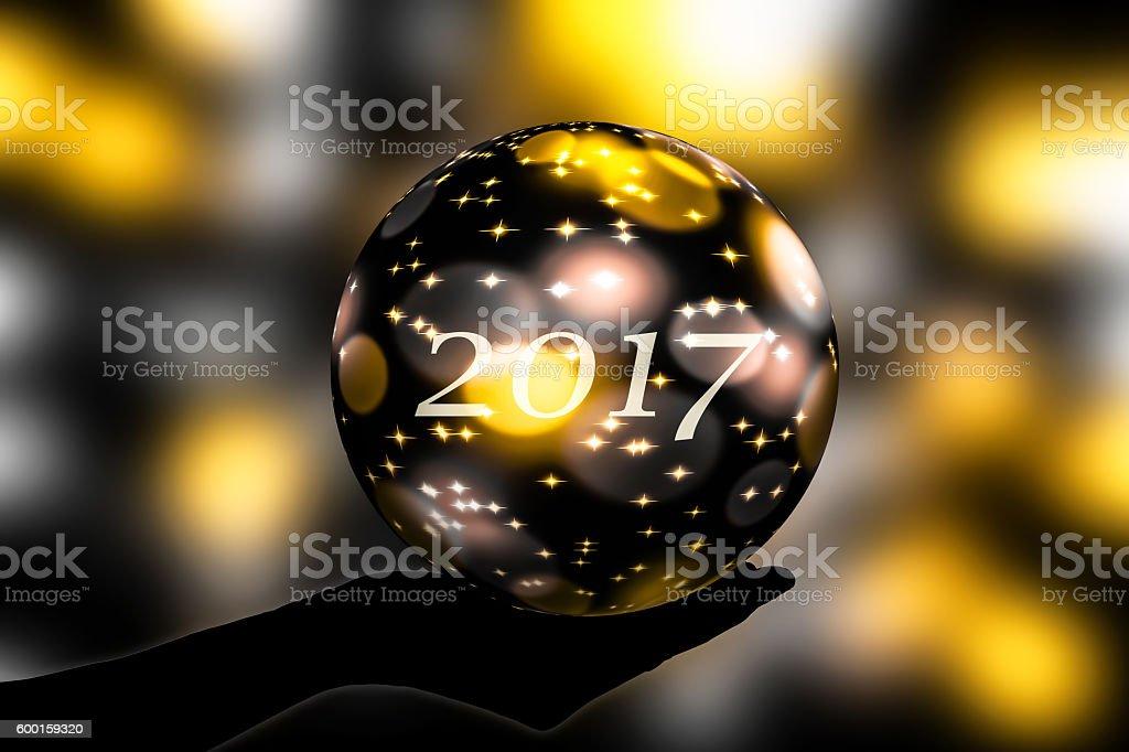 crystal ball 2017 stock photo