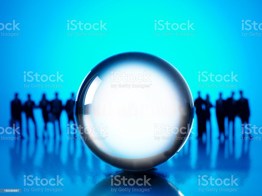 Crystal Ball and Buisness Prediction royalty-free stock photo