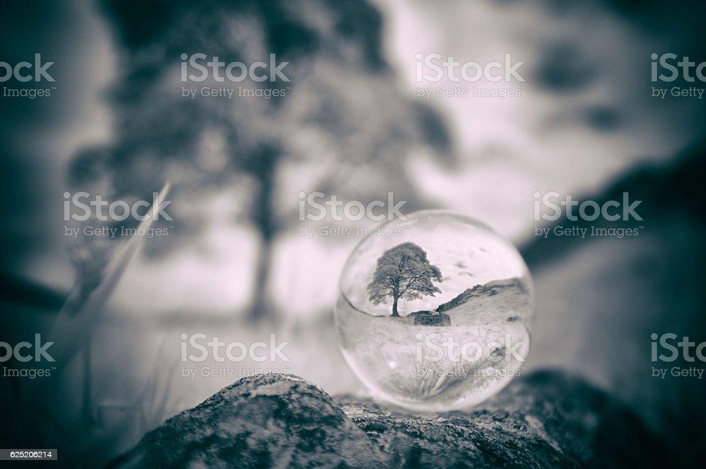 Crystal Ball At Hadrian's Wall stock photo