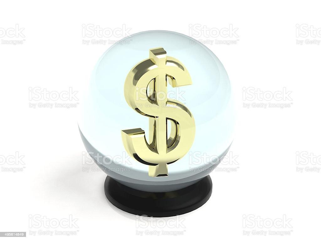 Crystal Ball Dollar stock photo