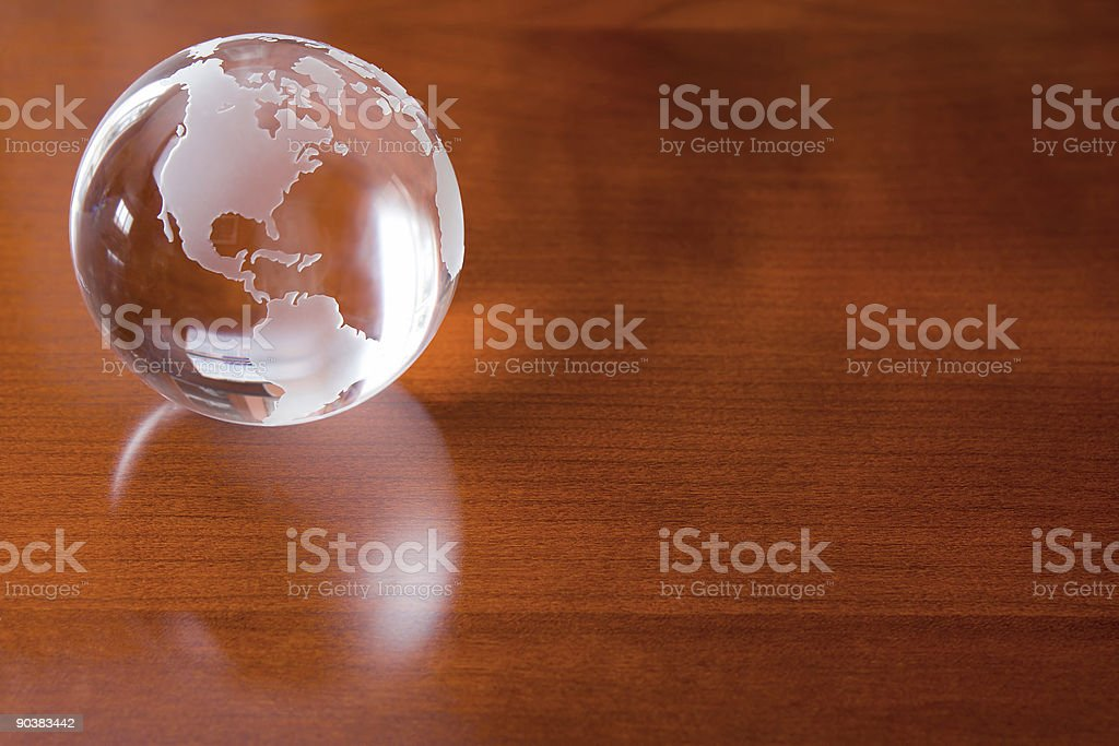 Crystal Ball - Global Business Background royalty-free stock photo