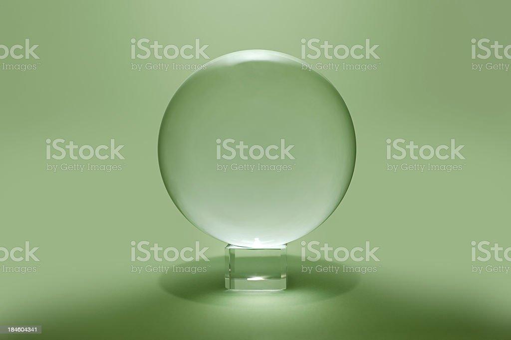 Crystal Ball – Green future? stock photo