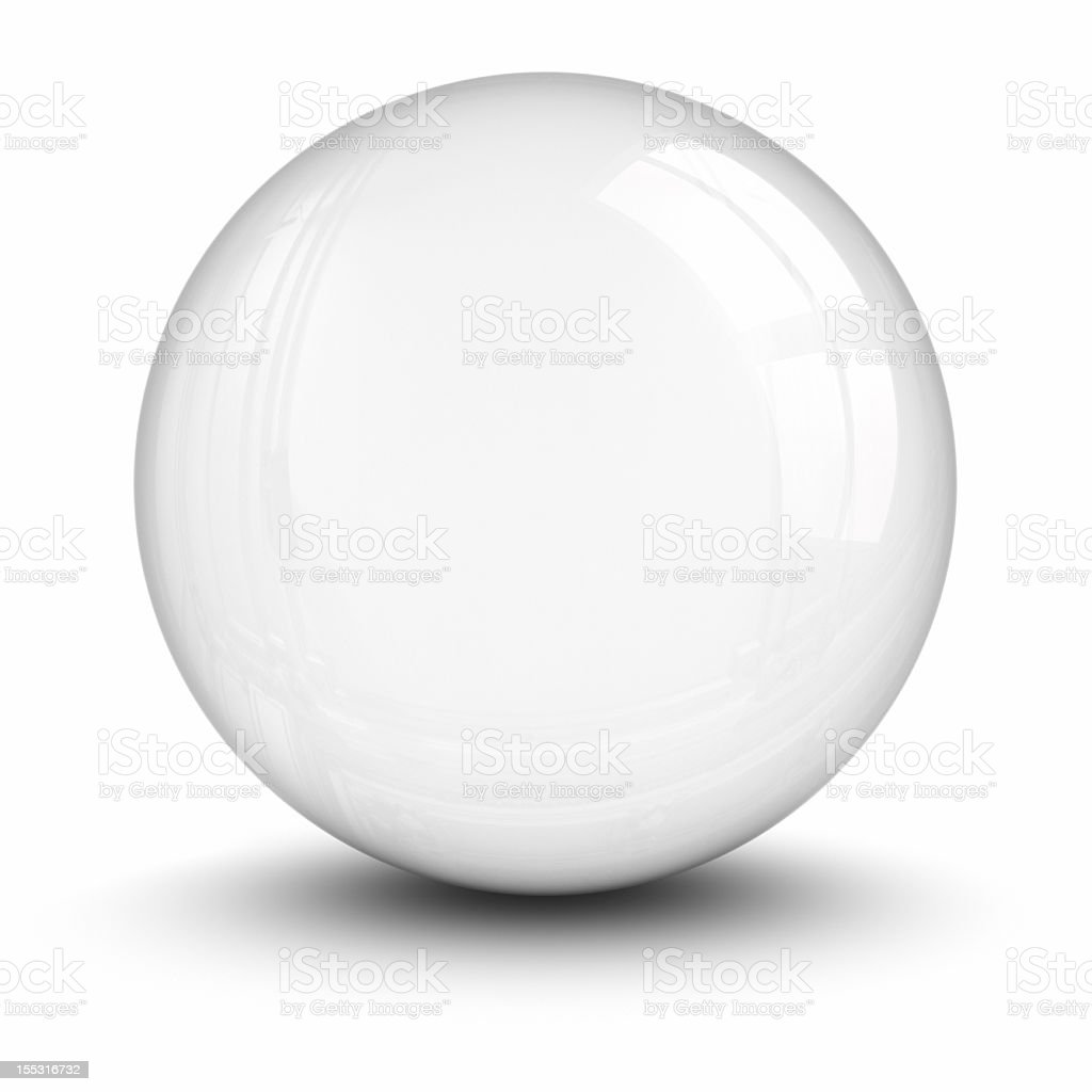 A crystal ball isolated on a white background stock photo