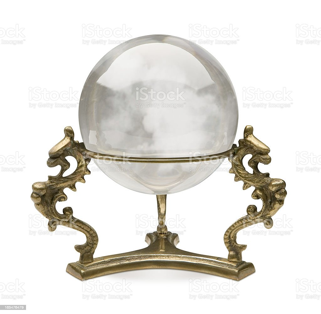 Crystal Ball isolated stock photo