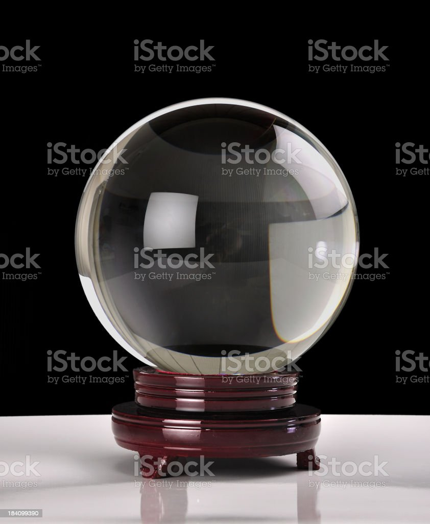 Crystal ball on black stock photo