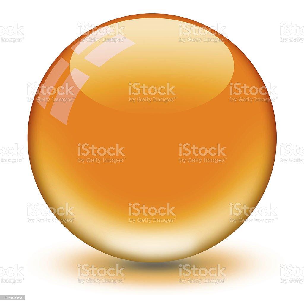 Crystal Ball Orange stock photo