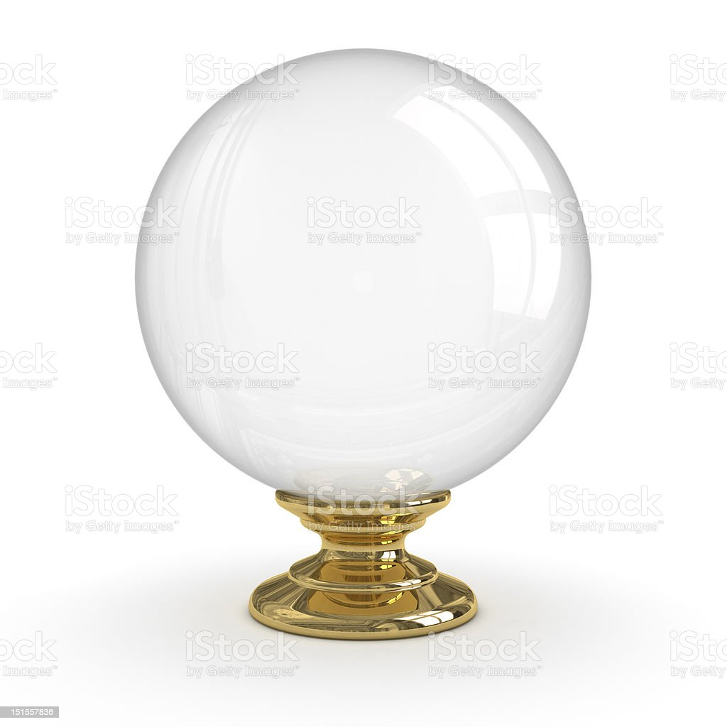 Crystal ball (Isolated) stock photo