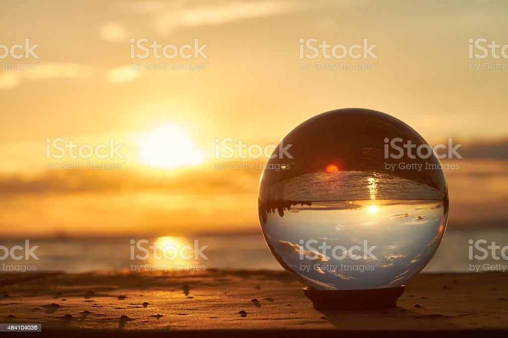 crystal ball stock photo