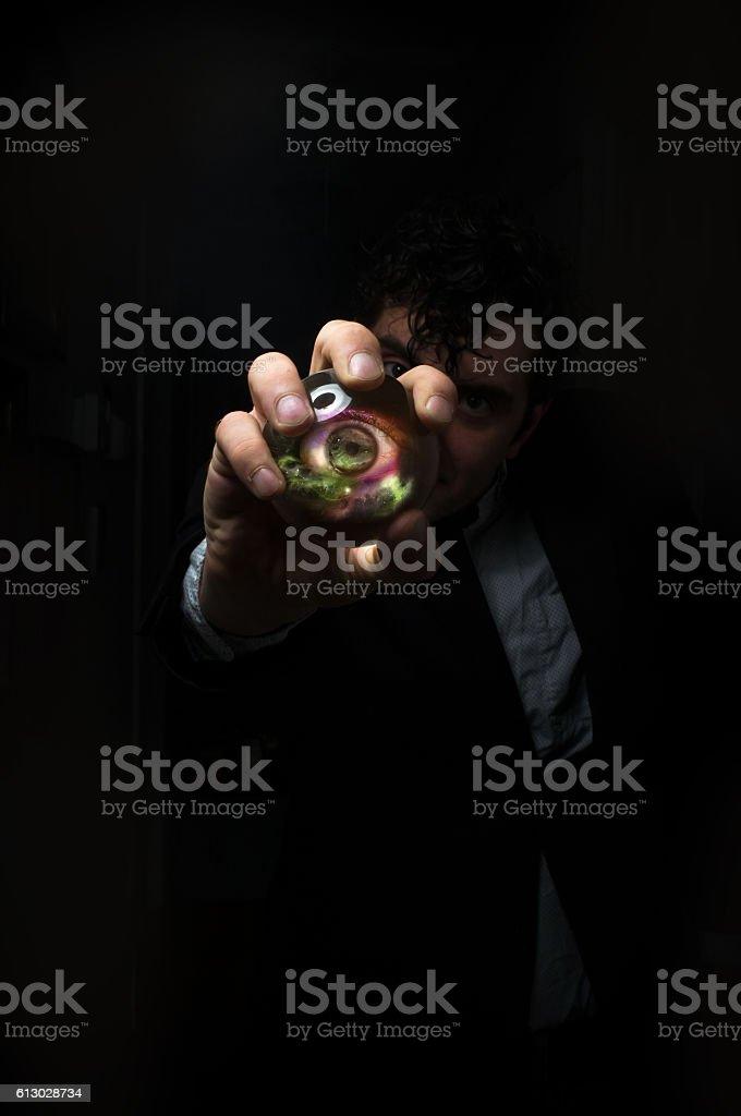 Crystal Ball Third Eye stock photo