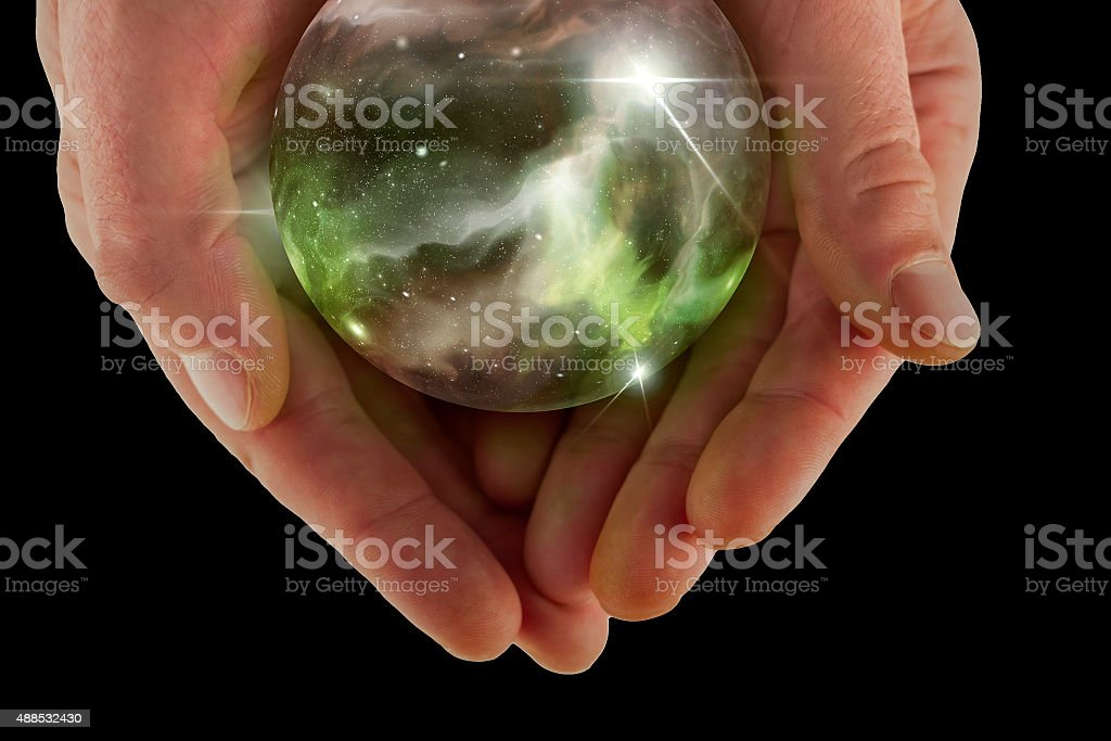 Crystal Ball Universe stock photo