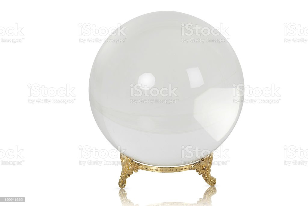 Crystal Ball- What will the future bring royalty-free stock photo