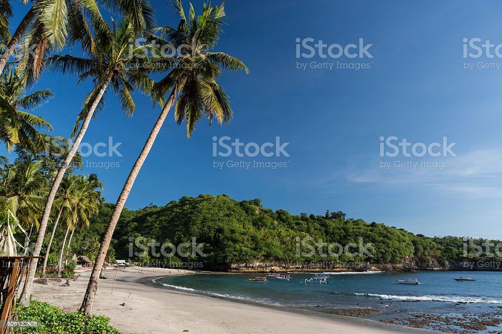 Crystal bay beach in Nusa Penida island of Bali stock photo
