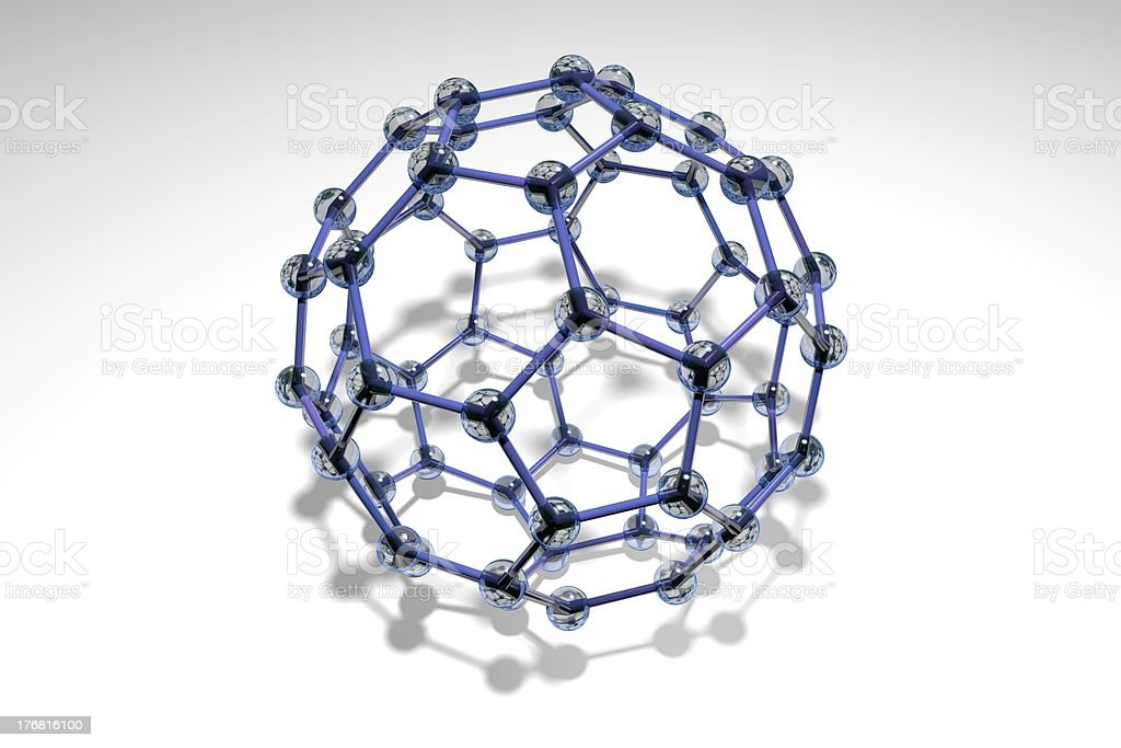 Crystal Blue Buckyball stock photo