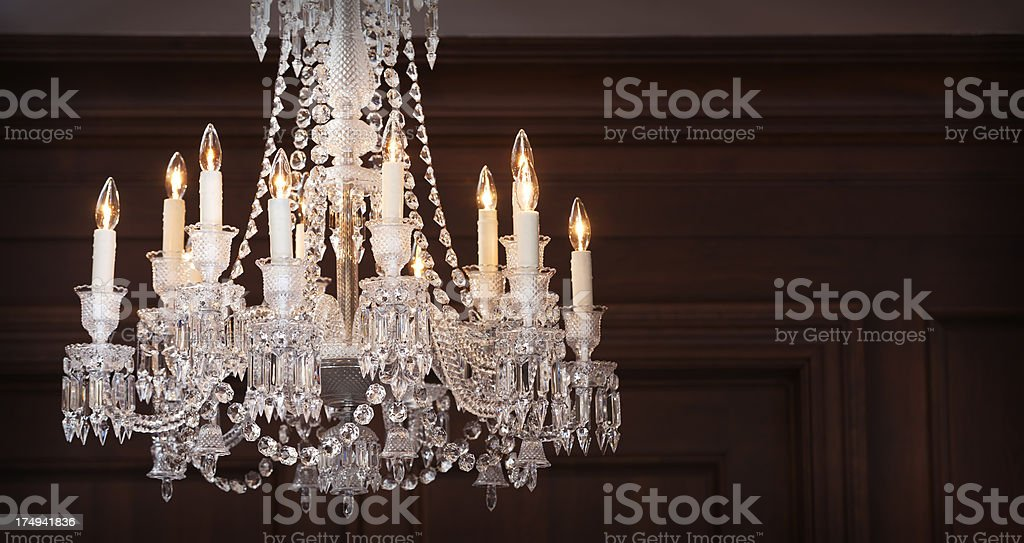 Crystal chandelier detail. royalty-free stock photo