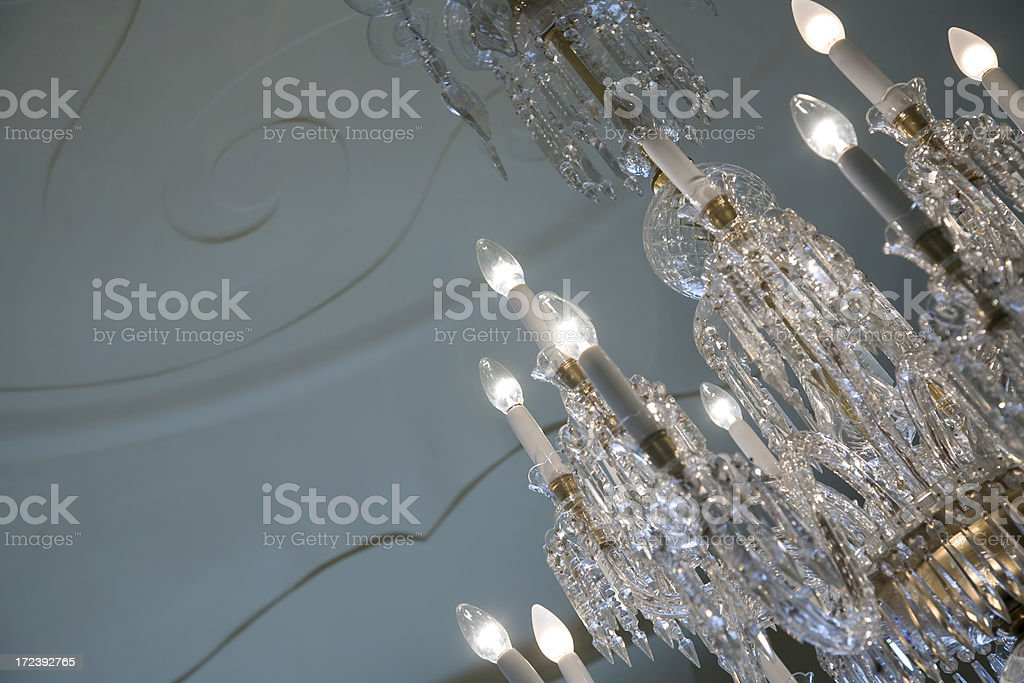 Crystal chandelier royalty-free stock photo