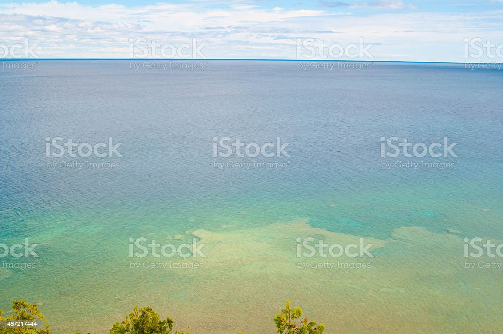 crystal clear lake stock photo