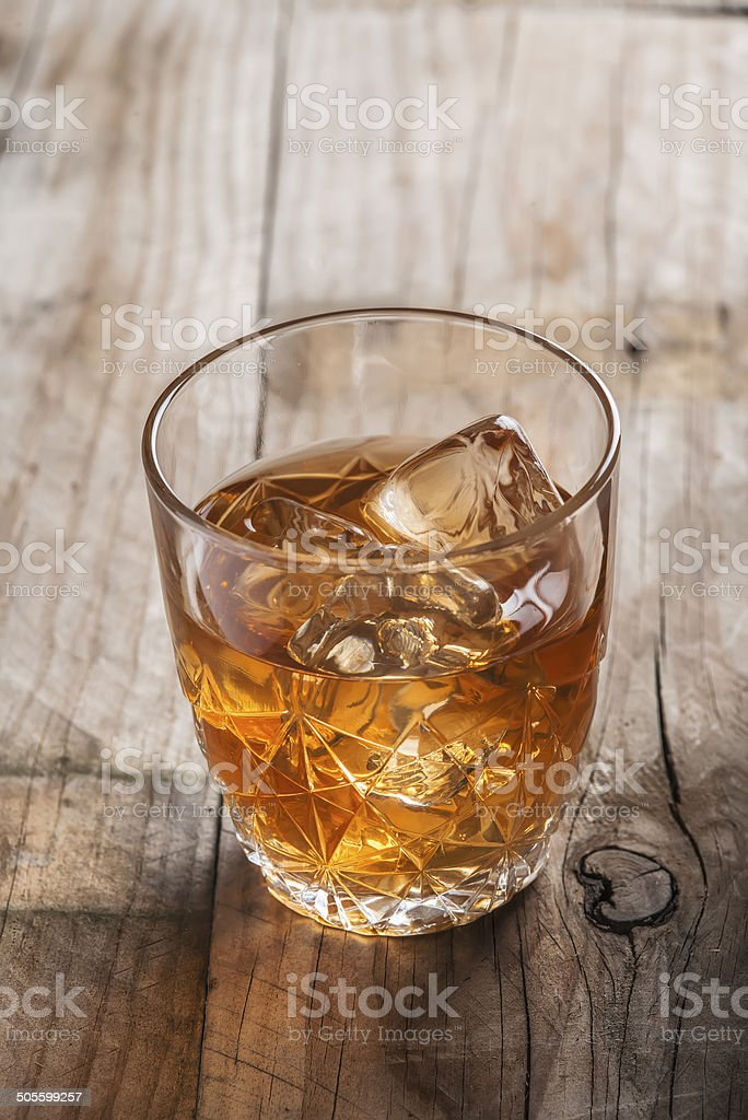 Crystal clear luxury glass with liquor stock photo