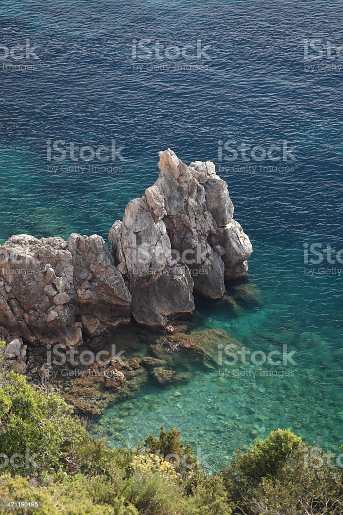 Crystal clear Mediterranean Sea - Monte Argentario, Tuscany Italy royalty-free stock photo